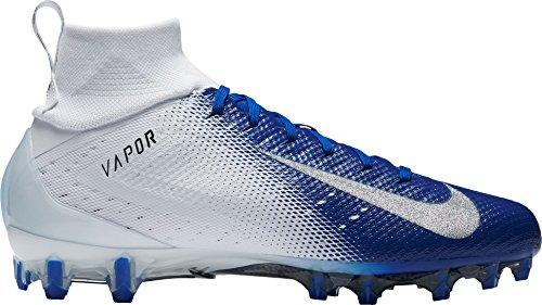 NIKE Men's Vapor Untouchable 3 Pro Football Cleats (13, White/Blue)