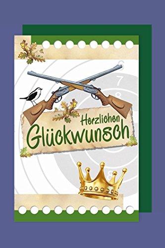 Jäger Karte Geburtstag Grußkarte Glückwunsch 16x11cm