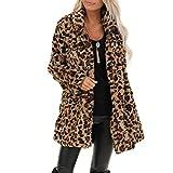Damen einfarbig Jacke lose Fledermaus Ärmel Herbst Strickjacke Frauen Winter mäntel Wolle Jacke Pullover Lange Lose Dicken Mantel/Grau,XL