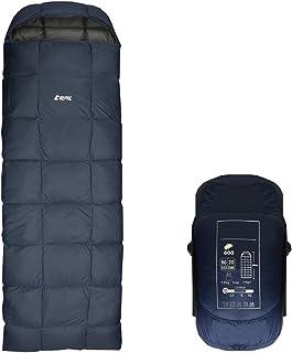 【REMAC】寝袋 ダウン シュラフ 封筒型 コンパクト 防災用品 最低使用温度 -25℃ 1800g (ネイビー)