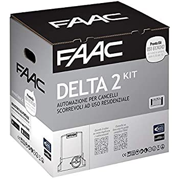 FAAC DELTA 2 KIT AUTOMAZIONE para puertas correderas ad uso residenziale con peso max 500 kg con luz estroboscópica 230 V Motor Encoder incluida y par de fotocélulas XP 1056303445: Amazon.es: Bricolaje y herramientas