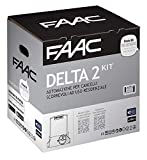 Faac 1056303445 Delta 2 Automation kit for sliding gates up to 500 kg, for residential use, with 230 V flashing light, motor, encoder and pair of XP photocells included