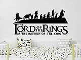 Herr der Ringe Wandtattoo Silhouette Herr der Ringe Vinyl Aufkleber Hobbit Wandkunst Jungen Schlafzimmer Kinderzimmer Dekor Hobbit Geschenke NS1145