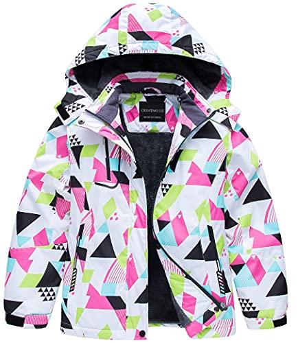 Girls' Waterproof Windproof Outdoor Warm Snowboard Ski Jacket Geometry 10/12