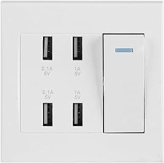 4 aansluitingen USB-stopcontact Smart Charger Outlet Paneel Tool Professionele aansluiting 2.1A / 1A