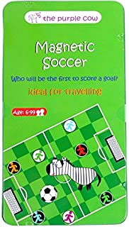 The Purple Cow Magnetic Travel Mini Soccer Game - Car...