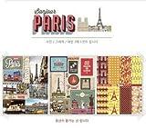 3 Hojas/Paquete Vintage London Paris Series Adhesivos Adhesivo Enmascaramiento Adhesivo Office Stationety School Stick PH176