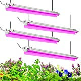 Byingo 4ft LED Grow Light, 168W (4 x 42W) 2-Row...