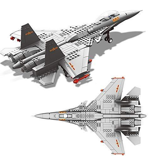 CYGG Bloques de construcción J15 Volando Shark Carrilería basado en el Portador Bloques de construcción Militar Modelo Fit Aeroplano Bricks Toys Regalos para niños niños