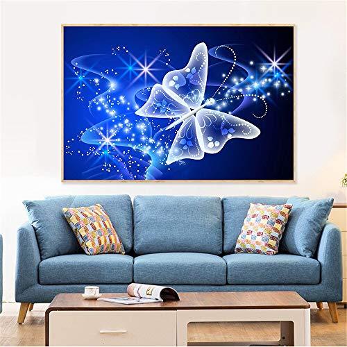 Póster abstracto Animal mariposa pintura sobre lienzo arte impresión cuadro de pared para sala de estar decoración del hogar Cuadros arte de fantasía 60x90 CM (sin marco)