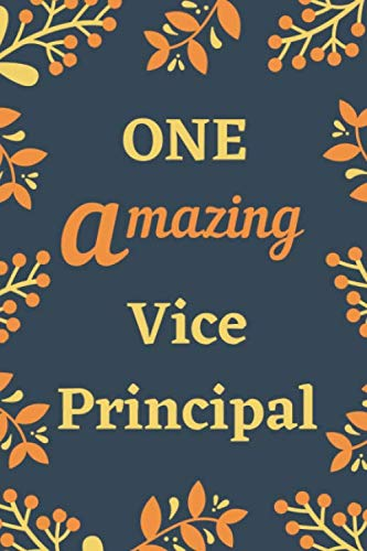 One Amazing Vice Principal: Professional Notebook College Ruled Paper Organization Notebook with Pockets