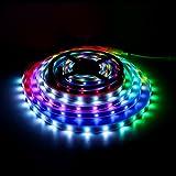 WS2812B Luz de tira llevada, tira led impermeable Dream Color 16.4FT / 5M 150/300 píxeles 30/60leds / M individualmente direccionable Luz de cuerda digital, DC 5V No resistente al agua LED Ribon Light