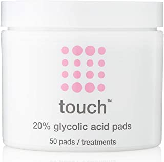 20% Glycolic Acid Pads Exfoliating And Resurfacing AHA Peel Face Wipes - Great for Anti-Aging, Dullness, Pores, Acne Scars...