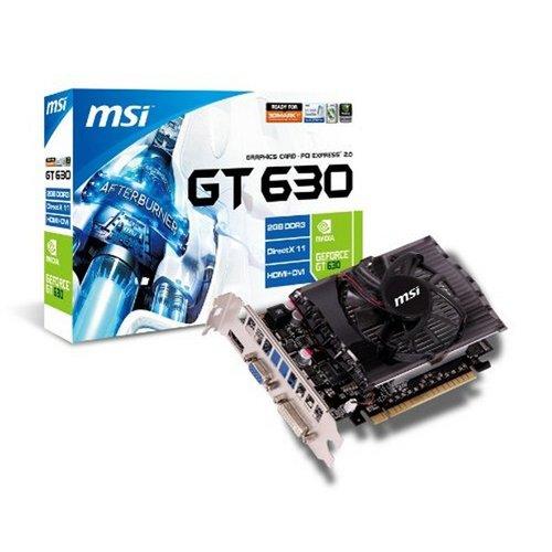 MSI N630-2GD3 NVIDIA GeForce GT 630 2GB Grafikkarte - Grafikkarten (Aktiv, ATX, NVIDIA, GeForce GT 630, GDDR3, PCI Express 2.0)