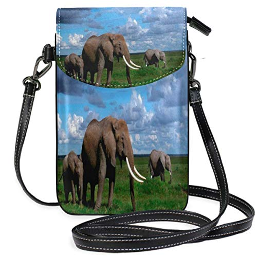 XCNGG Elephants Cell Phone Purse Wallet for Women Girl Small Crossbody Purse Bags