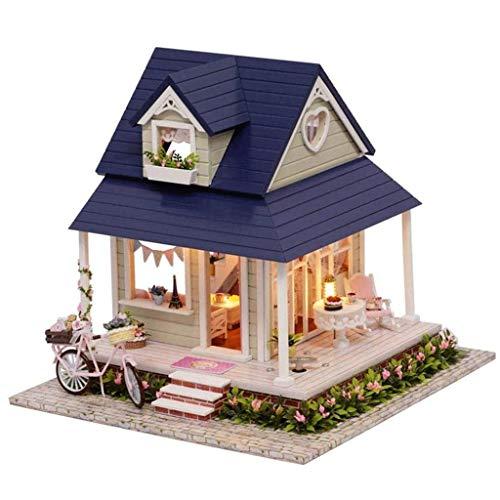 NXYJD PTUYZHYX Miniatura Dollhouse con mobili, Legno DIY Prova Dollhouse Kit Inoltre Polvere e Music Movement, 01:24 Dimensioni Creative in Camera Idea