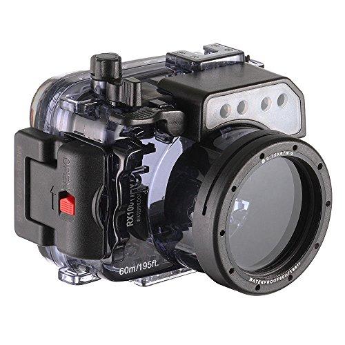 wenichen 60m/195ft impermeable carcasa submarina buceo Vivienda para Sony RX100I II III IV V cámara