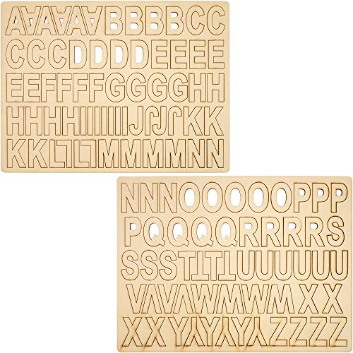 Wooden Alphabet Letters, Letters A-Z (2 in, 120 Pieces)