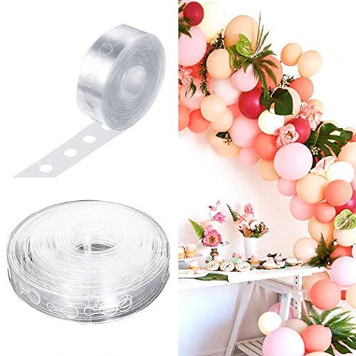 Tiowea Ballon boog slinger decoreren strepen DIY ballon tape bindgereedschap decoratieve accessoires Doppelloch transparant