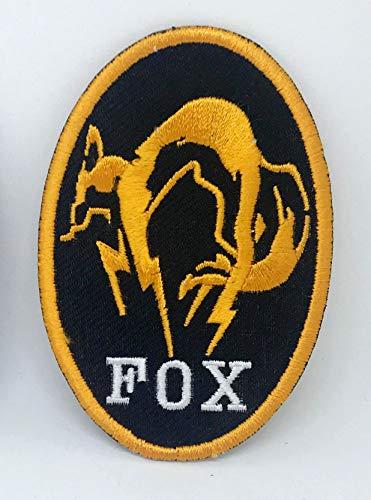 Metal Gear Solid Kojima Foxhound Fox Hound Patch zum Aufbügeln oder Aufnähen, gelber Rand