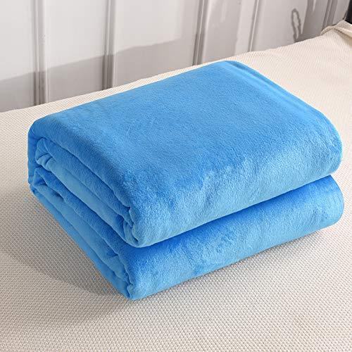 KNNSYZ Blanket Plain Flanell Decke Nickerchen Samtdecke Volltonfarbe Einzel Doppelbett Student Decke Korallen Decke Yoga Decke