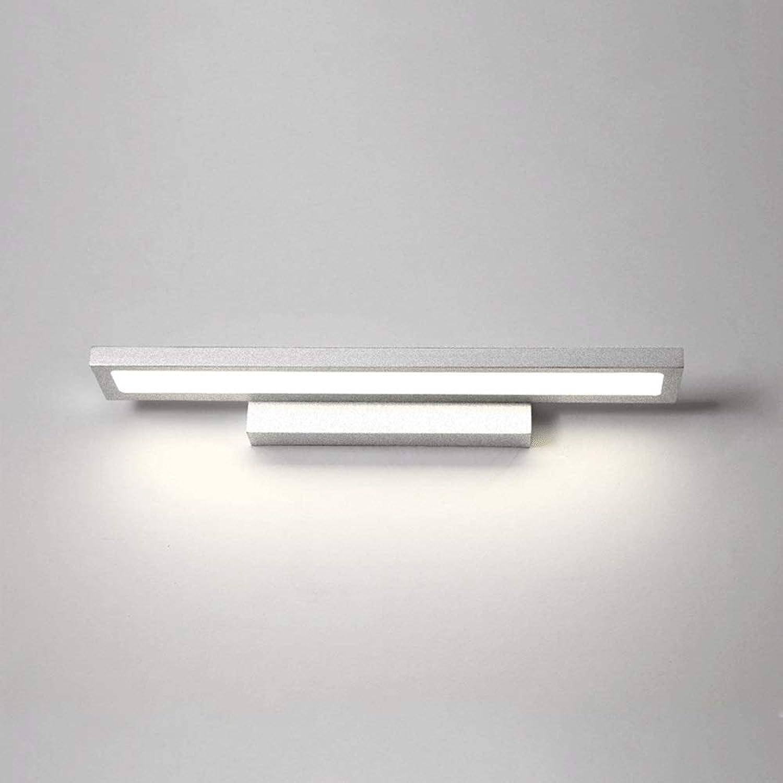 ZHAIZX Nordic Badezimmer Wandleuchte LED Badezimmerspiegelleuchte Moderne einfache Dressing Toilette wasserdicht (Farbe   Weiß, Größe   23.6in)