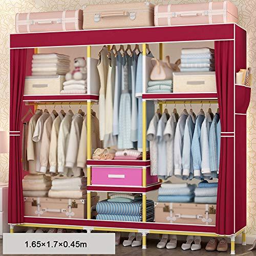 wardrobe Massivholzkleiderschrank, Moderner Minimalistisch Zusammengebauter Kleiderschrank, Mietraumschrank, Abnehmbare Schiebetür