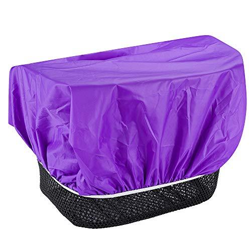 EAZY CASE Fahrradkorb Regenschutz, wasserfester Korbüberzug, Schutzhülle, Korbabdeckung wasserabweisend, Regenüberzug für Fahrradkorb elastisch, Schutzhaube für Regen, Lila