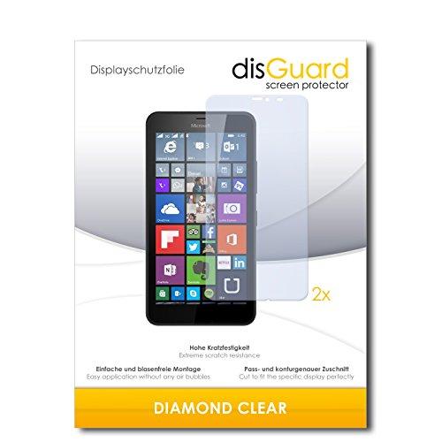 disGuard 2 x Displayschutzfolie Microsoft Lumia 640 XL Dual SIM Schutzfolie Folie DiamondClear unsichtbar