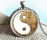 Collar con colgante de imagen de Yin Yang, Yin y Yang, yoga, joyería espiritual