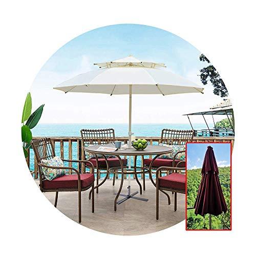 YLJYJ Sombrilla de Patio para Exterior, 7 pies, para Mesa de Mercado, para jardín, terraza, Patio Trasero y Piscina con 8 Varillas, Base Cruzada y manivela (Silla)