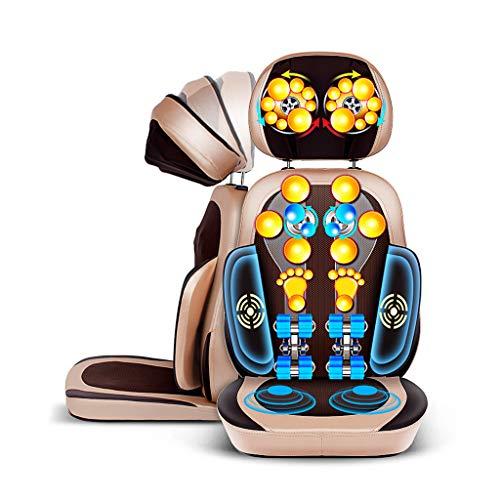 SZ&LAM Rücken- und Schultermassage, Massage-Stuhl mit der Funktion der Vibration Heizung, Tief knetet, für Schulter, Hüfte und Gesäß-Muskel-Schmerz-Entlastung,Gold