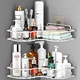 ASHINER 2 paquetes de estante ducha esquina para baño, estanteria rinconera de accesorios baño a prueba de óxido,...