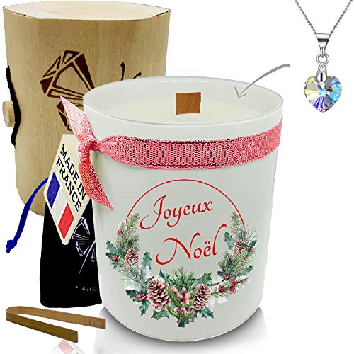 Candela gioiello • Mela d'amore • Cristallo di Swarovski elementi da donna • atmosfera per festa di compleanno e Natale • Cofanetto regalo • Ciondolo piccolo cuore