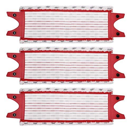 Meijunter - Almohadillas de repuesto de microfibra para fregona Vileda 1-2 Spray Mop/Ultra Max Mop, paquete de 3 paños planos