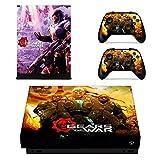 Xbox One X Skin (Gears of War 5), Anime Xbox One X Controller Skins, Xbox One X Skins para consola, Xbox One X Vinilo calcomanía protectora para placas faciales