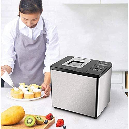 FyLD broodbakmachine, snel en compact, broodbakmachine, 550 W, reservefunctie van 13 uur, 21 voedingmenu, automatische vruchtensap, warmhoudfunctie