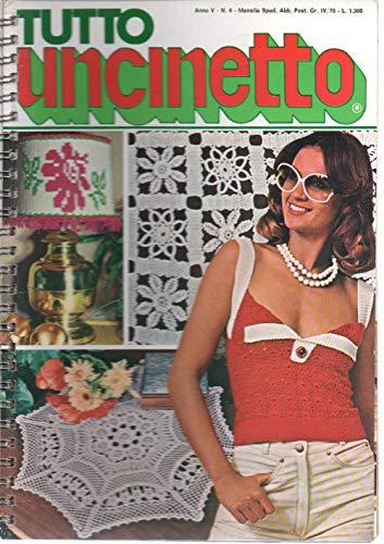 Tutto uncinetto 6 del Giugno 1977 Lampade jacquard, Sottobicchieri