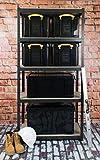 Really Useful Kunststoff-Aufbewahrungsbox recycelt robust stapelbar 35 Liter 390 x 480 x 310 mm schwarz - 5