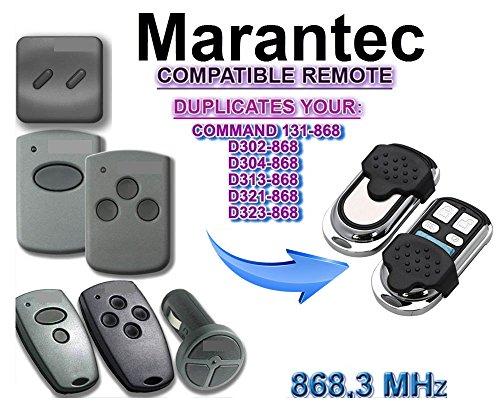Marantec Garagentor Fernbedienung Sender Geeignet für D382/D384/D302/D304/D313/D321/323/COMMAND 131, 4 Kanal Kompatibel Handsender, 868 Mhz