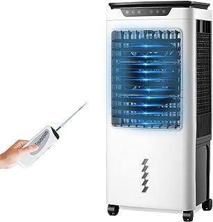 Bärbar avdunstning luftkylare vit mobil luftkonditionering för små rum med fjärrkontroll, energibesparande funktion och mi...