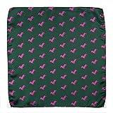 KRAWATTENDACKEL Einstecktuch Hundemotiv Grün Dackel Pink