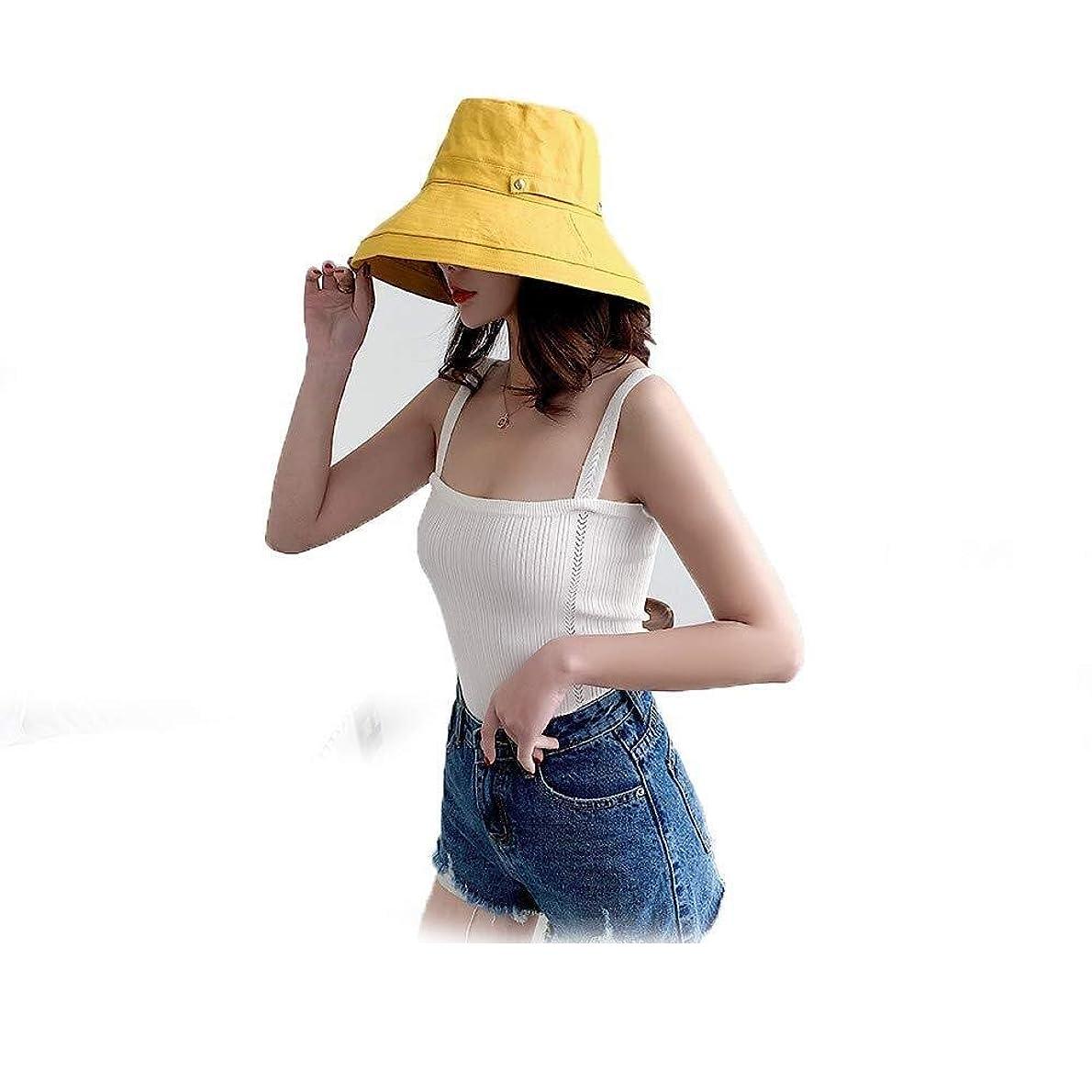 証言するライラック蛾夏のサンハットサンプロテクションバケツキャップ、女性つば広帽子折り畳み式のフロッピーバケットハットについてはビーチ旅行ハイキングキャンプボート