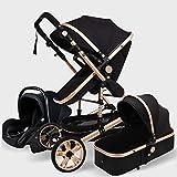 WWWANG Pram, Portable Baby Stroller 3 in 1 Infant...