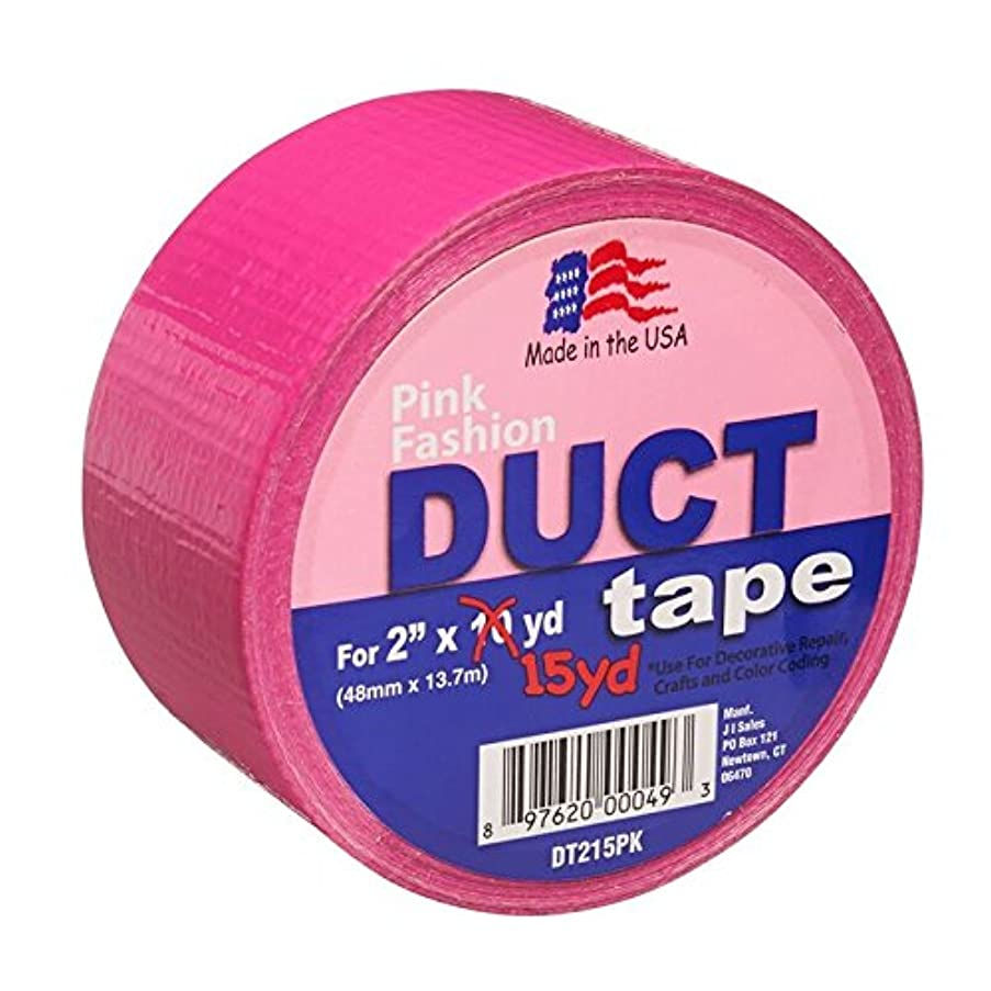 Signature Crafts Fashion Duct Tape Solid Pink DT215PK 15Yards 1.88 Inches Wide, 15 yd 1.88