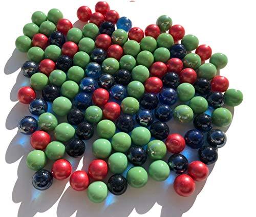 Fairy TAIL & Glitter fee 100 stuks kleurrijke glazen murmeln rood blauw groen Murmeln 16 mm glazen stenen Murmel Vaas Vulingen Blauwe rode Murmeln Glitter Stenen Dekoschalen Murmelspel glas