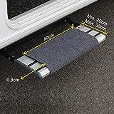 FAIRMO Wohnmobil Trittstufen Fußmatte - Qualitäts Matte für Ihren Wohnwagen individuell passend! Wohnmobil Zubehör - Clean Step Teppich Fussmatte - Camping Stufen Matte in Grau