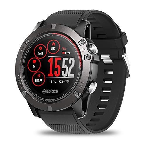 Yearyown - Reloj inteligente, podómetro deportivo, medidor de frecuencia cardíaca, reloj impermeable IP67, mujeres, hombres, niños