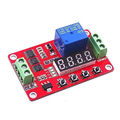 10 unids/lote más nuevo 12 V CC relé de bloqueo automático multifunción módulo temporizador de ciclo PLC interruptor de tiempo de retardo