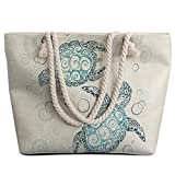 Best Beach Bags - Sleepwish Extra Large Womens Canvas Beach Tote Bag Review